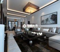 卓尔沈阳客厅140平中式装修案例