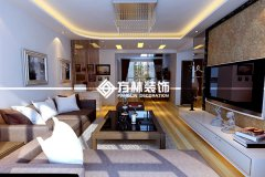 中海城90平现代装修效果图